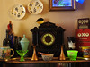 Antiques and Souvenir's (uk_dreamer) Tags: clock antique souvenir souvenirs antiques slate uranium glass collection oxo abstract home time stilllife