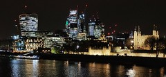 London Nightscape XLVIII (Douguerreotype) Tags: london uk dark urban river water british buildings cityscape castle lights architecture thames britain night tower city gb england