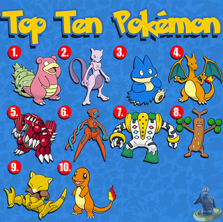 Top Ten Pokémon
