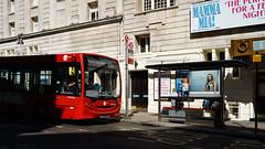 Tower Transit DMV44250 (cybertect) Tags: adlenviro200 canonfd35mmf2ssc catharinestreet dmv44250 london londonwc2 londonbus rv1 sonya7 towertransit wc2 yx12akp bus singledecker