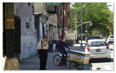 New Utrecht (Robert S. Photography) Tags: people sunglasses hat summer signs brooklyn newutrecht nyc sony dscwx150 color frame iso125 july 2018
