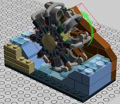 Paddle Wheel for Mill (Horlack) Tags: tips lego moc paddle wheel technique ldd