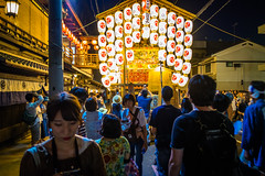 The season is coming #11 (Kyoto) (Marser) Tags: xt10 fujifilm raw lightroom japan kyoto float lantern nightview people crowd 京都 祇園祭 後祭 北観音山