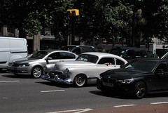 Caught In Traffic...Caught On Camera. (standhisround) Tags: cars vehicles vehicle car vintage classic classiccars westminster london england uk cadillac series62cadillac lightgrey parklane cadillaccoupedeville usa traffic