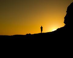 Contraluz (Isai Hernandez) Tags: contraluz backlight man photography amarillo yellow sun sol atardecer sunrise rock