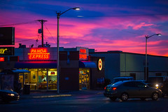Be Gracious With Your Light (Thomas Hawk) Tags: albuquerque america chinesefood newmexico pandaexpress route66 usa unitedstates unitedstatesofamerica neon sunset us fav10 fav25 fav50