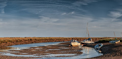 ER1A9073-Pano-Edit.jpg (andybam1955) Tags: earlymorning lwtide quay landscape panoramic rural coastal clouds sky northnorfolk blakeney boats norfolk sea