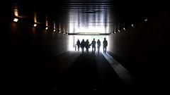 walk (Darek Drapala) Tags: warsaw warszawa walk tunnel city civilization town people lumix light panasonic poland polska panasonicg5