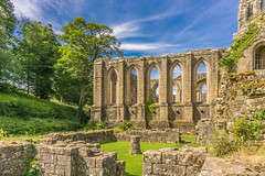 Fountains Abbey (iammattdoran) Tags: monks monastic cistercian monastery abbey founatins bolton skipton keighley yorkshire stone religious teachings pillars architecture national trust historic heritage unesco world water king henry vibrant colours saturation blue sky green grass