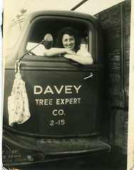 Davey (Leifskandsen) Tags: old girl lorry drive tree expert vintage camera scanned living leifskandsen skandsenimages usa