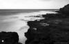 Pinhole Photography: Makawehi Lithified Cliffs (ZER_0019) (masinka) Tags: lava etbtsy coast coastline shore pacific hawaii kauai longexposure pinhole photography film analog blackandwhite bw mood landscape seascape zero image