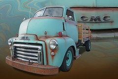 It's A BIg Boy - 1949 GMC COE (Brad Harding Photography) Tags: 1949 49 gmc coe caboverengine desoto kansas antique turquoise rust truck utility generalmotorscorporation restoration restored vintage southwestern chrome