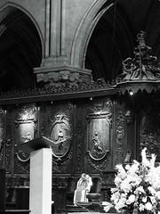 (Silvia Bertuzzi) Tags: cathedral woodenchoir streetportrait paris notredame priest blackandwhite portrait