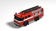 Magirus Deutz Firetruck from 1978 (Melvin Mast) Tags: magirus deutz firetruck engine lego moc red oldtimer 1900 1978 fireengine pomper
