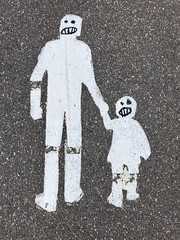 (Sameli) Tags: pedestrians walking sign painted asphalt pavement helsinki suomi finland