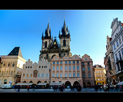 Church of Our Lady before Týn, Old Town Square (amandia) Tags: prague czechrepublic praha czechia motherofgodbeforetyn church gothic oldtownsquare architecture christian photomatix hdr canon eos80d
