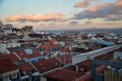 Lisbon city center view
