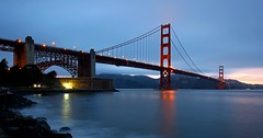 Golden Gate Bridge (Steve O'Day) Tags: california bridge explore bay water timelapse dusk goldengate sanfrancisco canon