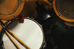 Acoustic Drums Kit (dejankrsmanovic) Tags: tom skin snare drum percussion rhythmic beat acoustic wood wooden handmade custom traditional classical structure frame body part partof detail closeup object musical instrument equipment tool unit kit model music tone sound loud stilllife