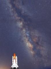 Ready for Take-Off (Antoine Grelin) Tags: astronomy astrophotography nevada las vegas space shuttle endeavour milky way 24mm pancake canon 7dm2 dslr stars voie lactee nasa galaxy nebula cluster messier desert night dark darkness