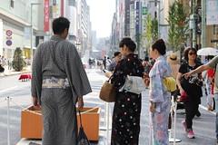 Summer Ginza Walk (seiji2012) Tags: 銀座 東京 歩行者天国 ゆかた 浴衣 散歩 yukata ginza tokyo japan walk kimono costume
