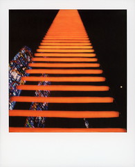 Jacob's Dream: A Luminous Path (tobysx70) Tags: polaroid originals color 600 instant film slr680 jacob's dream a luminous path grace cathedral california street nob hill san francisco ca led art installation sculpture benjamin bergery jim campbell ladder stairway to heaven church stained glass window orange glasskey polawalk polavacation 042918 toby hancock photography