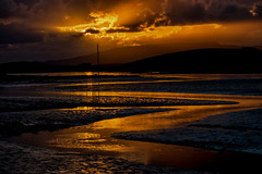 Low tide low Sun (mickreynolds) Tags: august2018 nx500 quay westport ireland wildatlanticway sunset golden meandering atlantic ocean