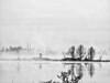 Fog lifting BW 02-20180418 (Kenneth Cole Schneider) Tags: florida miramar westmiramarwca