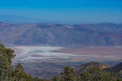 View of Badwater Basin from the Wildrose Peak Trail (alitay) Tags: badwater basin badwaterbasin deathvalleynationalpark deathvalley mountcharleston california colorful wildrosepeaktrail panamintmountains panamintrange saltflats mtcharleston mojavedesert
