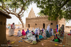 Women Gather for Friday Prayers at Woriyanga Historic Mosque (whaun) Tags: africa woriyanga uppereastregion islam ghana muslim westafrica warinyaga subsaharanafrica mosque djennearchitecture wurinyanga gh