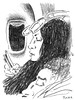 Airports and Planes 42 (Rick Tulka) Tags: airports planes travel paris newyork caricature pencil drawing sketchbook