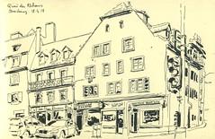Quai des Pêcheurs - Strasbourg (lolo wagner) Tags: croquis sketch alsace urbansketchers usk strasbourg