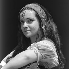 The Future (clarkcg photography) Tags: woman female blackandwhite blackwhite gypsy character actress persona feel portray portrait project