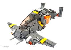 MV-18 Manta Viper (Benjamin Cheh) Tags: fighter plane lego afol
