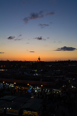 Sunset in Marrakech (nnorpa) Tags: morocco marrakech desert sahara camel essaouira zagora sand fish blu cammelli marocco cammello turbant street sunrise sunset sunlight light lights orange colours juice old men bikes lamb souk kids
