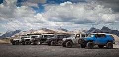 Group Shot on Imogene Pass (Fire_For_Effect) Tags: toyota fj cruiser jeep wrangler unlimited rubicon jk 4x4 colorado imogene pass offroad trail hike ski mountain snow awd 4wd fjsummit summit 12 2018
