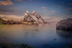 Return to Bow Fiddle Rock (RabbieJT) Tags: bow fiddle rock portknockie scotland fiddler fiddlers long exposure sea seascape coast