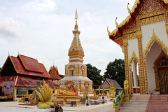 Wat Phra That Si Khun , Nakhon Phanom, Thailand (www.icon0.com) Tags: ancient architecture asia beautiful buddha buddhism building chedi colorful culture khun local nakhon northeastern pagoda phanom phra religion respect sculpture si statue symbol temple thailand tower wat worship
