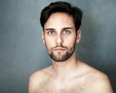 David (Pierre Vau) Tags: handsome greeneyes colour pure puristic 50mm nikon berlin germany daylight bearded studio shootings portrait man