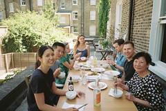 Dalston (cranjam) Tags: ricoh gr1 gr1v film agfa vista200 uk london londra hackney vicky jay blanka gaelle charlie ryan dumplings lunch terrace