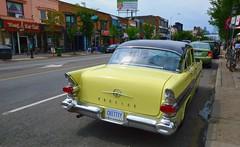 'Chittty' .... 1957 Pontiac Star Chief .... Danforth Avenue / Toronto, Ontario (Greg's Southern Ontario (catching Up Slowly)) Tags: thedanforth danforthavenue 1957pontiacstarchief 1957pontiac pontiac vintageautomobile antiqueautomobile