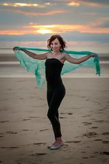 Madzia (Mariusz Talarek) Tags: lighthouse mtphotography madzia merseyside newbrighton seaside beach enjoy fun girl greenscarf happy landscape polishgirl portrait sand scarf sunset