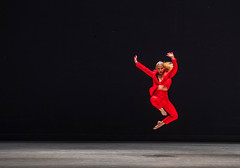 Seoul Dance 6 (Robert Borden) Tags: red woman leap dance dancer dancers competitor competition international seoul 2018 seoulinternationaldancecompetition2018 fashion seoulkorea southkorea asia july fuji fujifilmxt2 fujiphotography 50mm