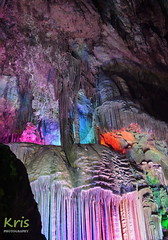 Inside the Silver Cave (Guangxi Province of China) (|kris|) Tags: silvercave cave rock formations cavern stalactites stalagmites guangxi china asia guilin yangshuo pillars 银子岩 yínziyán fairy palace limestone artificial lights colored colorful multi karst coral subterranean stone illuminated underground grot scenic