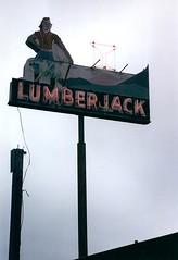 The Lumberjack Bar (marmotfotos) Tags: lumberjack neon signs orick california biketrip biketouring