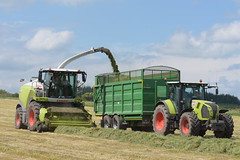 Claas Jaguar 970 SPFH filling a Broughan Engineering Mega HiSpeed Trailer drawn by a Claas Arion 650 Tractor (Shane Casey CK25) Tags: claas jaguar 970 spfh filling broughan engineering mega hispeed trailer drawn arion 650 tractor self propelled forage harvester jag traktor traktori trekker tracteur trator ciągnik silage silage18 silage2018 grass grass18 grass2018 winter feed fodder county cork ireland irish farm farmer farming agri agriculture contractor field ground soil earth cows cattle work working horse power horsepower hp pull pulling cut cutting crop lifting machine machinery nikon d7200