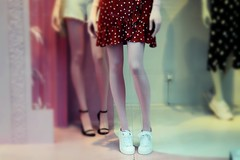The Valley Of The Dolls : Lolita (Storyteller.....) Tags: valley dolls lolita dress red legs short vitrine clothes mannequin