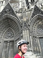 Stephanie enjoying the sights of churches