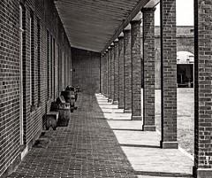 Pathway of Fort Pulaski.. (giri.photo2018) Tags: blocks pathway brown white black shadows vintages district building oldbulding historic history history's monument fortpulaski fort savannah america georgia us usa