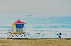 Life Guard Hut - Huntington Beach (xtaros) Tags: life guard hut huntingtonbeach california xtaros horizon hills waves sand seagull seagulls watercolor water beach lifesaver oceanrescue seaside ocean sea surf surfer surfers